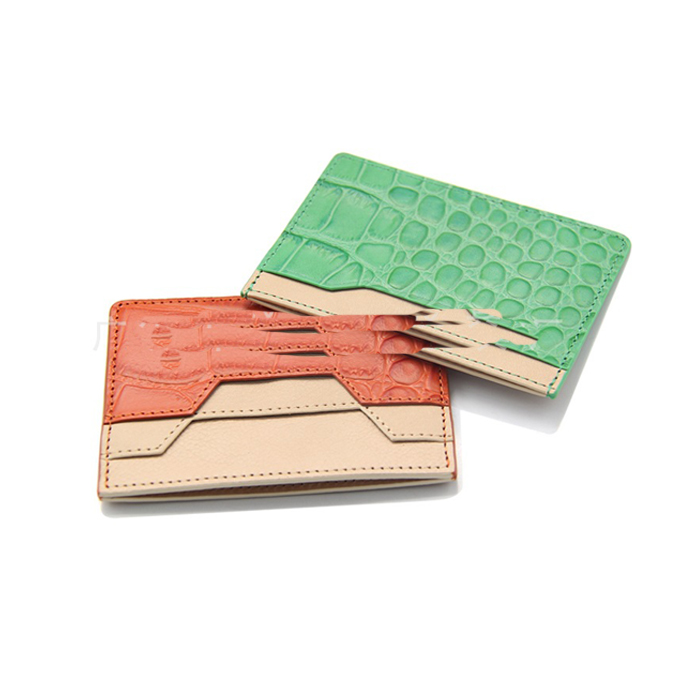 Real Crocodile Leather Card Holder