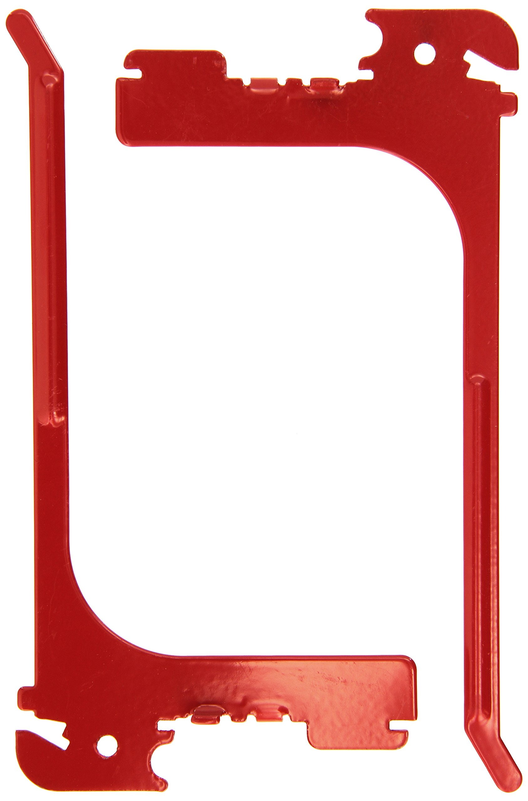 """Wall Control 10-ER-106 R Pegboard 6"""" Reach Extended Slotted Hook Pair Slotted Metal Hooks for Wall Control Pegboard Only, Red"""
