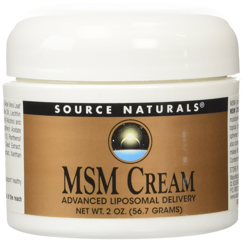 Source Naturals MSM Cream, Advanced Liposomal Delivery, 2 Ounces