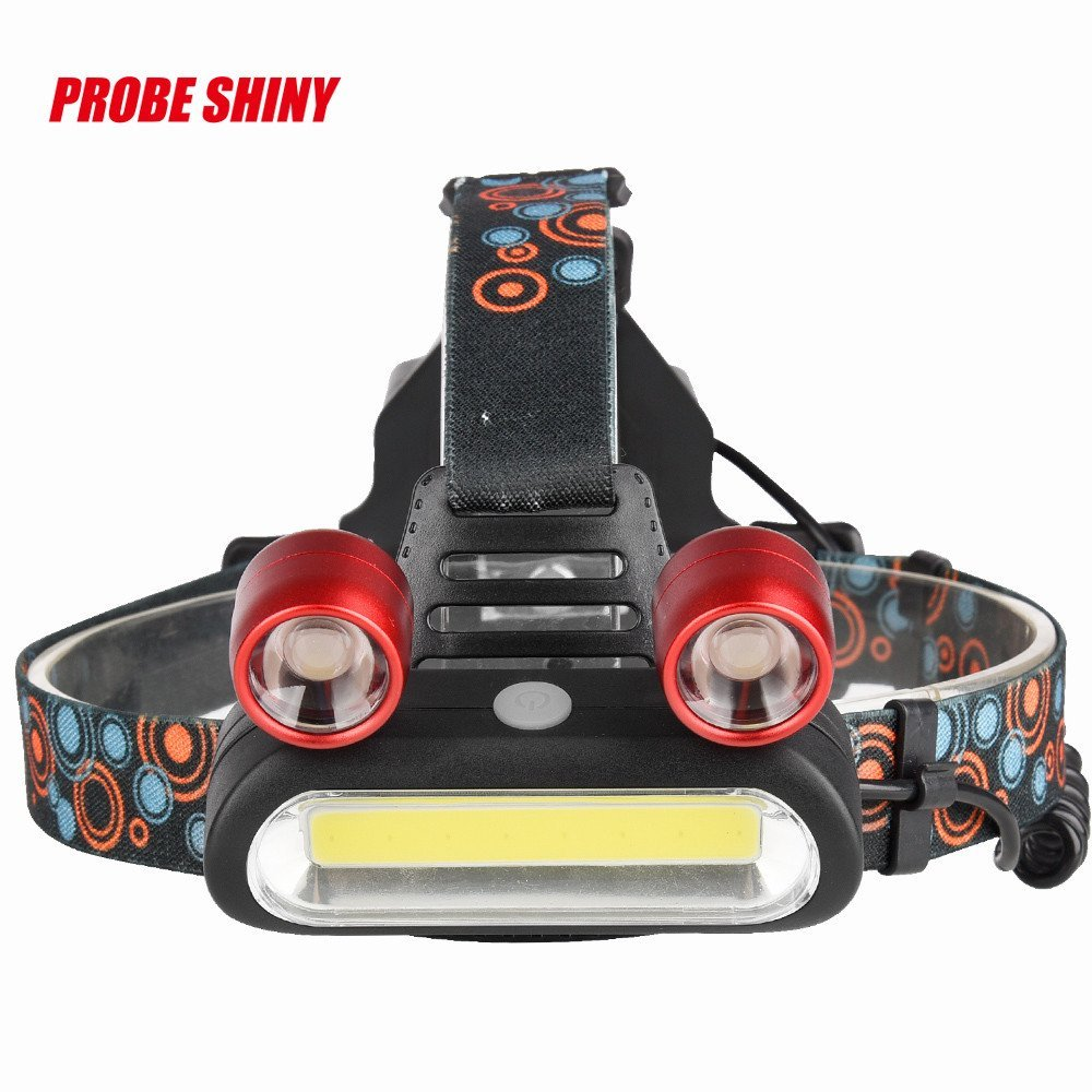 EraseSIZE 15000LM 2X XM-L T6 LED +COB Rechargeable 18650 Headlamp Head Light Torch - Waterproofing Adjustable with 4 Modes, Suitable Running, Walking, Biking, Camping and Hunting
