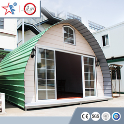 China cheap dome prefab cabin house/ modern arched cabin/modular lows prefab home kits