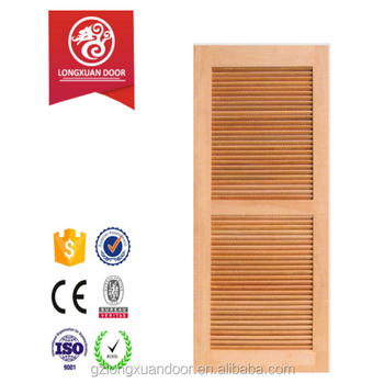 Customized Exterior Wooden Louver Door With Fixed Laryer Or Adjusted