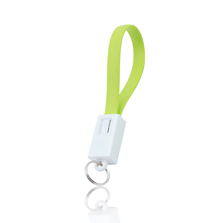2.1A Groothandel Snelle Levering Usb Sleutelhanger Kabel, Data Sync Charger Kabel Usb Sleutelhanger Stijl