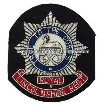 Uk Bullion Wire Hand Embroidery Military Badges | Royal British Regimental  Badge - Buy Uk Blazer Badge,Royal Blazer Badge,Irish Guards Embroidered