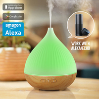 Factory Essential Oil Diffuser Ultrasonic Air Humidifier aroma diffuser work with amazon alexa voice to control