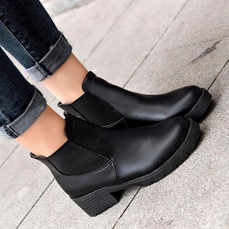 Chelsea Boots Chunky Platform Black Chelseabootswomen Com