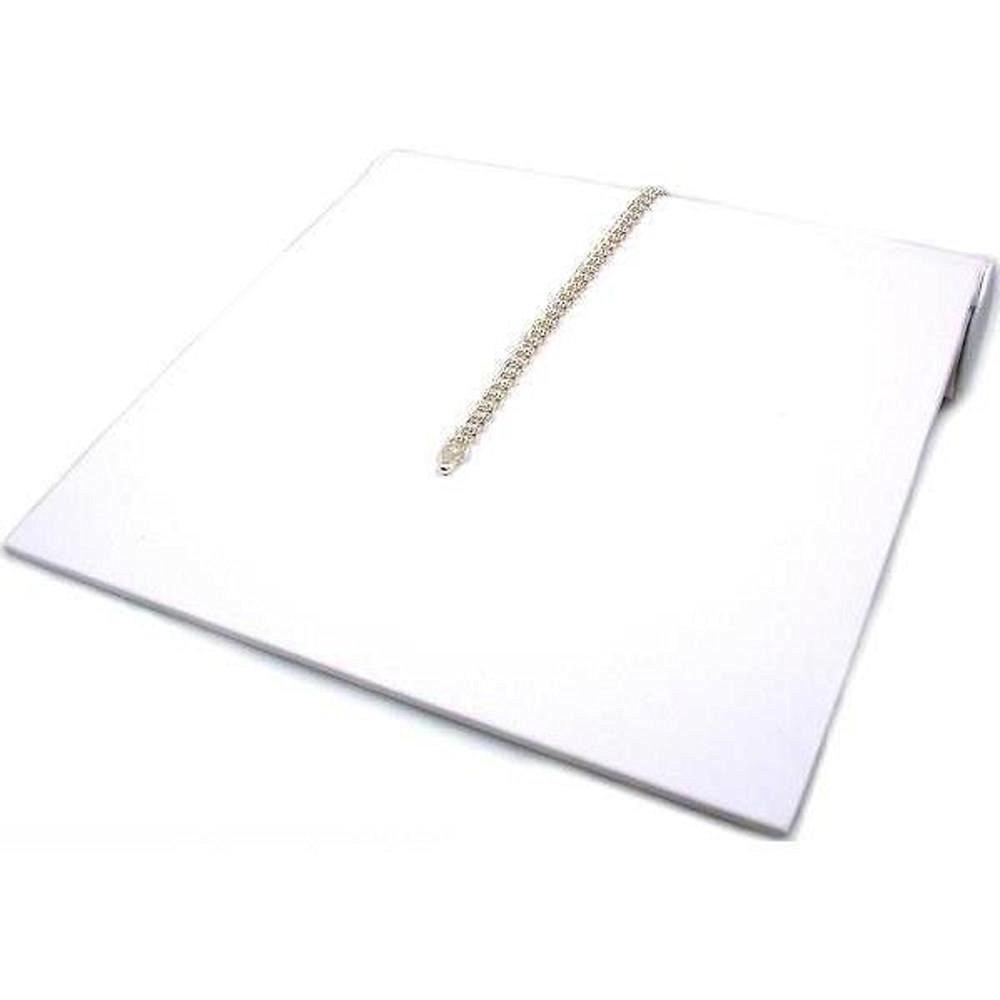 Bracelet Ramp Display White Showcase Countertop Fixture