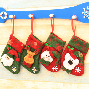 Holiday panty gift non-woven stocking decoration christmas sock