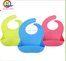 FDA silicone baby bibs with pocket