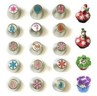 Bakeware Cupcake Cake Decorating Pastry Baking Tools Christmas Series Metal Icing Nozzles