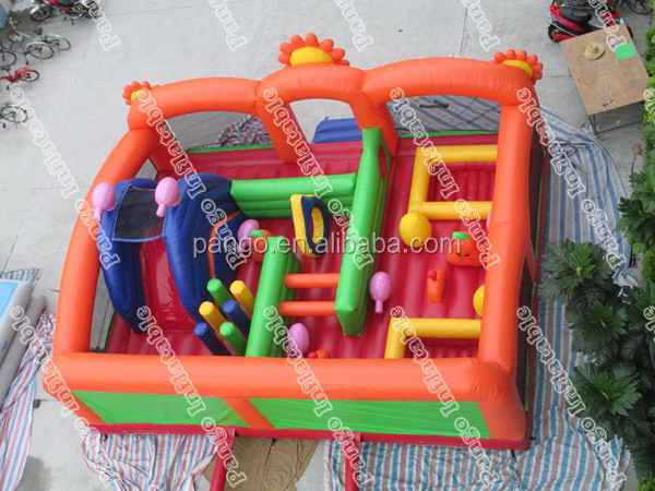 Large Inflatable obstacle games with 0.55mm pvc tarpaulin