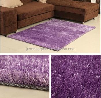 Tianjin Fabrique De Tapis Violet Couleur 150d Soyeux Polyester Coupe ...