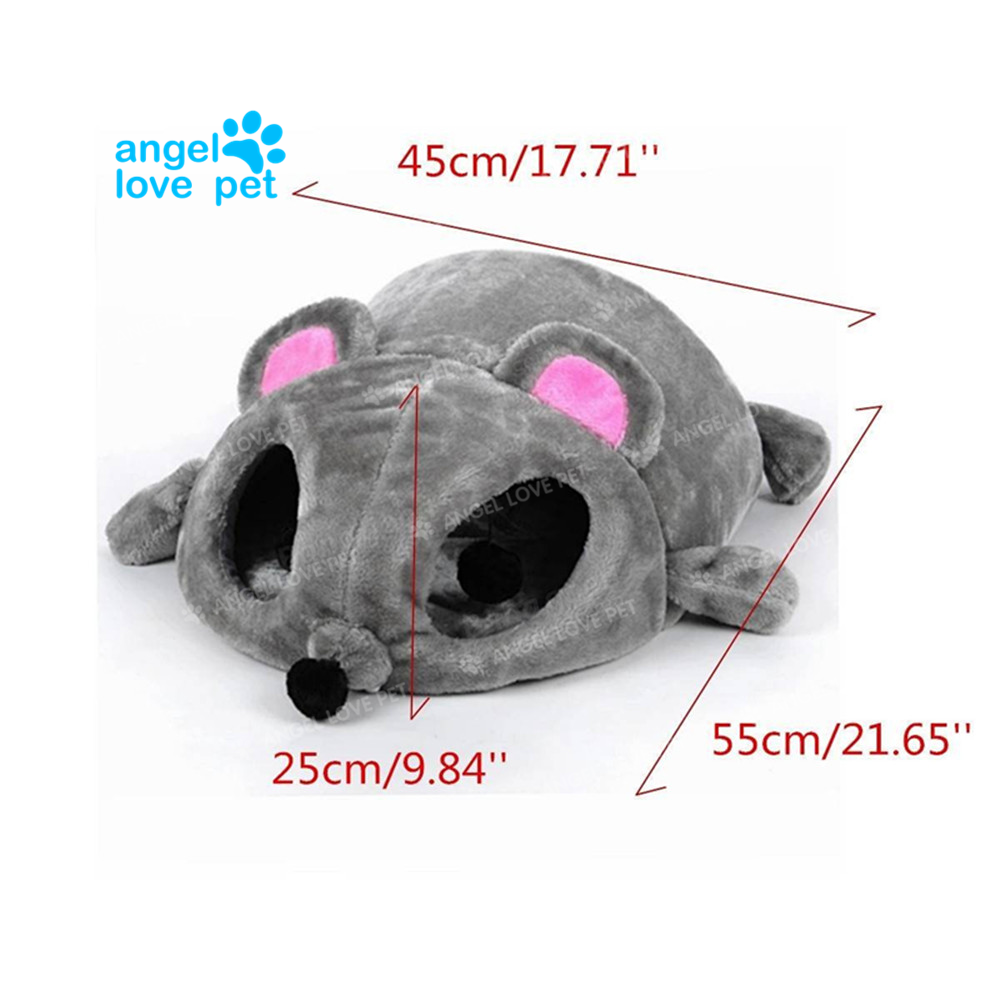 Lovely Soft Mouse Shape Bed Pet Dog Cat Sleeping Bag House Pet Blanket Mat for Cat