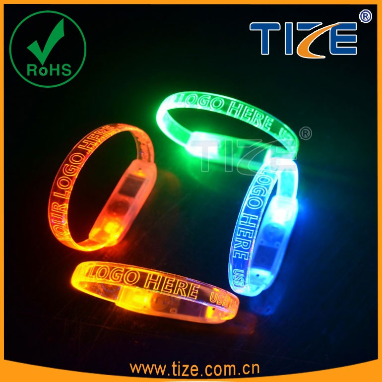 custom light up party sound activated wristband flashing led bracelets party decorations