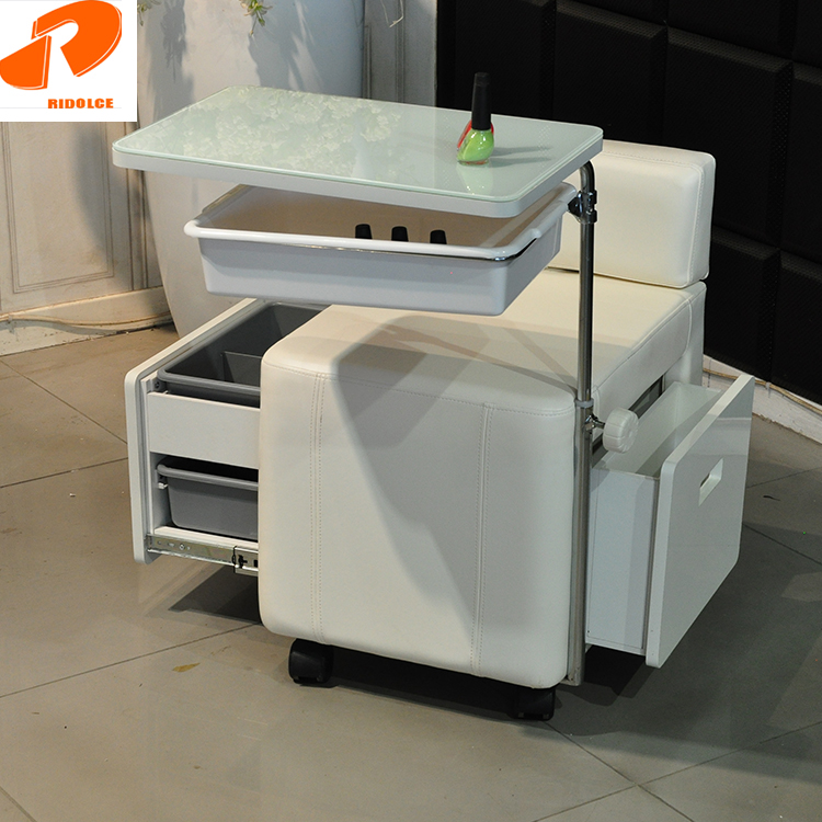 TKN-35739A 用品サロン家具白折りたたみポータブルスツール爪椅子マニキュアテーブルセットミニネイルテーブル