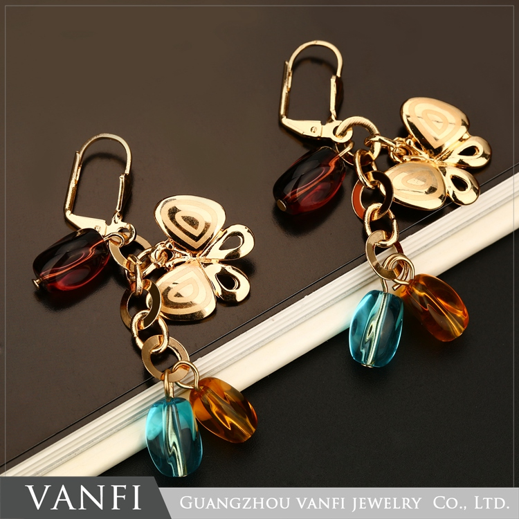 Fashion transparent high quality nature amber baltic amber jewelry earrings