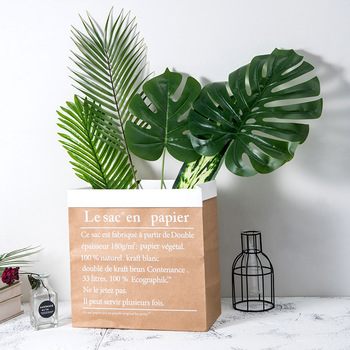 home decoration artificial flower green Monstera leaves
