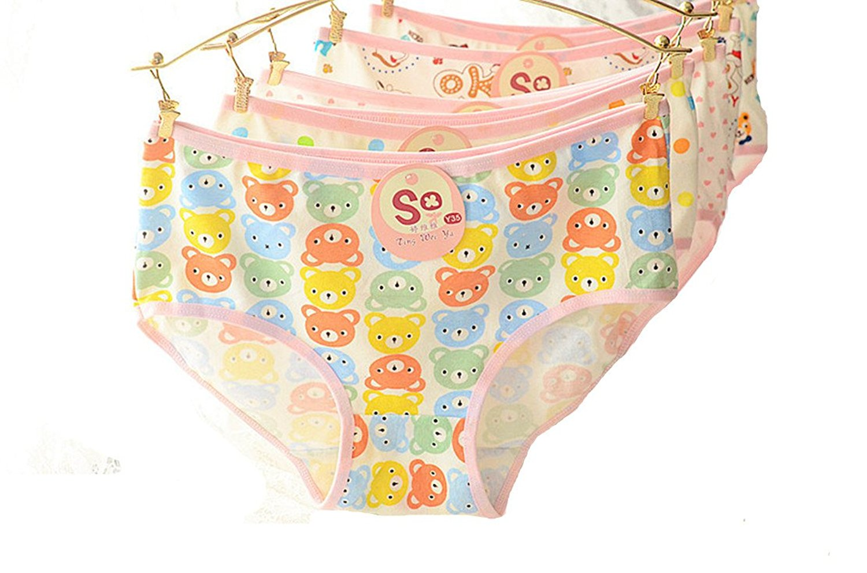 4 Pcs Packed Stripes Modal Girl Women Briefs Panties Underpants Underwear 3XL