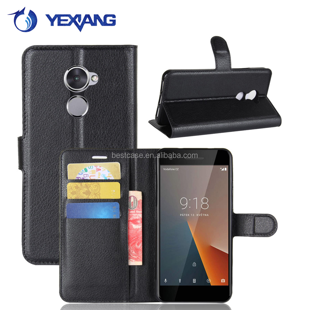 High quality magnetic wallet leather <strong>cover</strong> for Vodafone Smart first 7 leather phone case