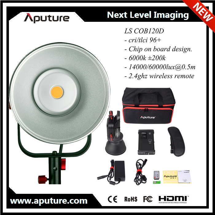 New Aputure LS 120D led video lighting set for studio