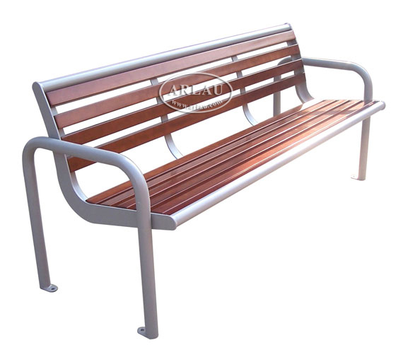 Arlau Street Furniture Benches Hardwood Bench Outdoor Commercial Outdoor Benches For Sale Wooden
