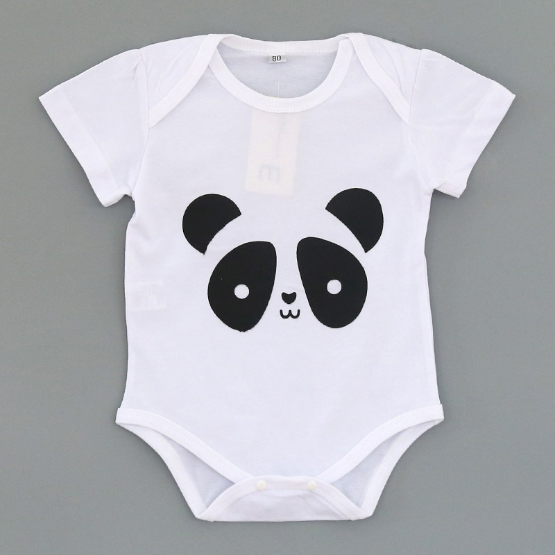 White Black New Style Custom Design Panda Raindrops Baby Clothes