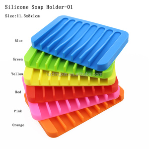 New Candy Colors Silicone Bath Accessories Set Soap Holder Corner Shower Soap Dish