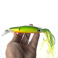 Colorful Lifelike Fishing Squid Lure 1Pcs lot Sea Fly Fishing Minnow Hard Bait Crank Bait Fishing