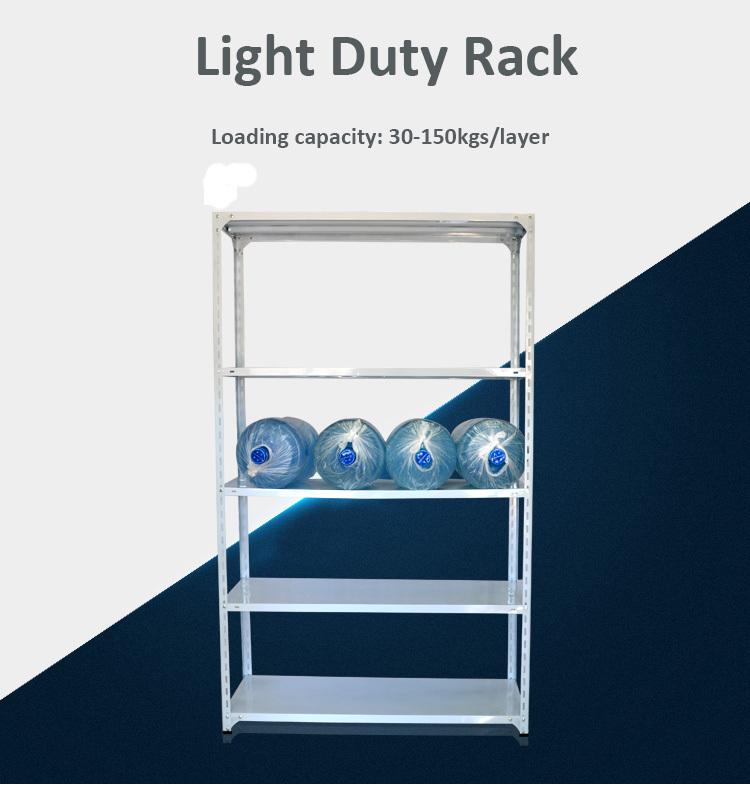 Warehouse Light Duty Rack Adjustable Angle Steel Bolt And