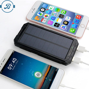 2017 hot real capacity 15000 mah portable solar charger rohs manual, solar power bank for cell phones