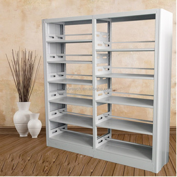 Library Steel Wooden Shelf Wrought Iron Bookcase Bookshelf