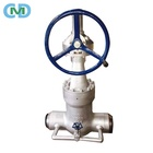 High Pressure Seal Class 1500 WCB BW Steam Gear Gate Valve with Bypass