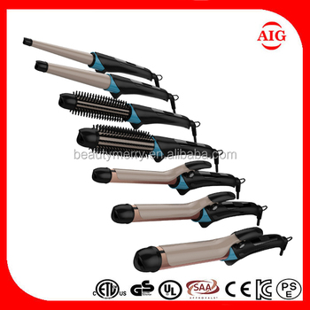 2 In 1 Hair Straightener Curling Iron Innovative Perm Tools Heating Multi Styler Spiral