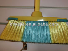 YJ2011 yellow and green color high quality sweep floor brooms and brushes