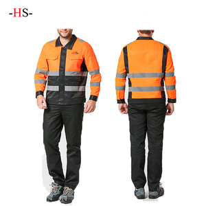 OEM Design Bright color long sleeve uniforms men's and women's overalls
