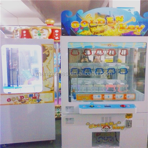 Ecuador hot sale coin operated vending machine toy key master/ master key prize gift machine