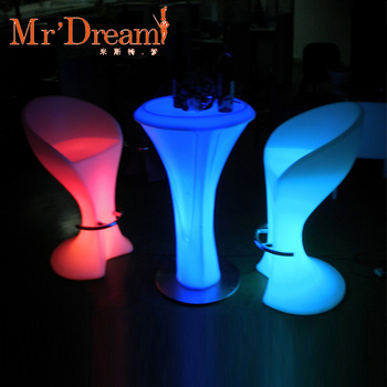 Mr Dream light up bar table / Illuminated Led Table/Glowing Led Cocktail Table