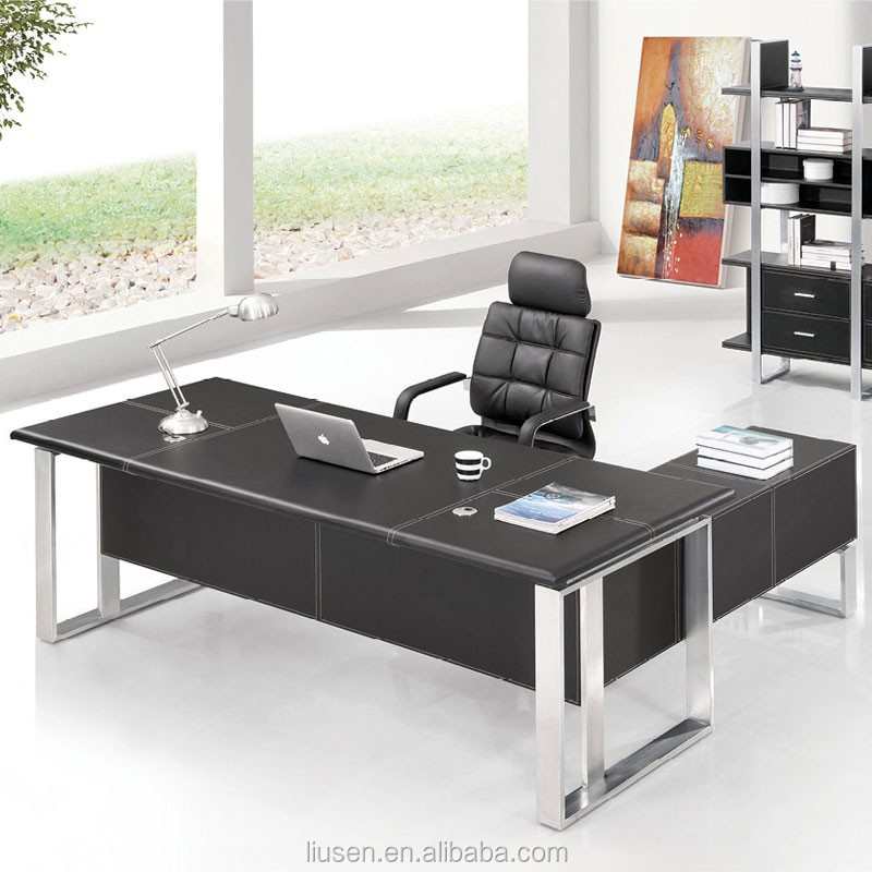 cheap office furniture melamine modern ceo office table with drawer