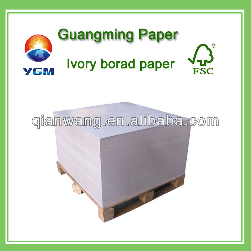 Dongguan c1s ivory board wholesale/ocb rolling paper/lwc paper prices