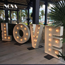 Warm White Light Led Bulbs Frontlit Love 3d Letters For Wedding Decoration