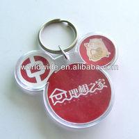 Customized Logo Printed Promotion Acrylic Keychain ,Photo Frame /Plastic Keychain