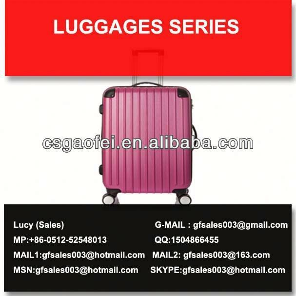 best and hot sell luggage four wheels super light luggage for luggage using