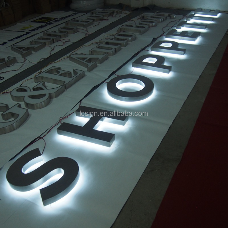 Custom Electronic Light Up Aluminum Letters Outdoor Wall Hanging Business Sign