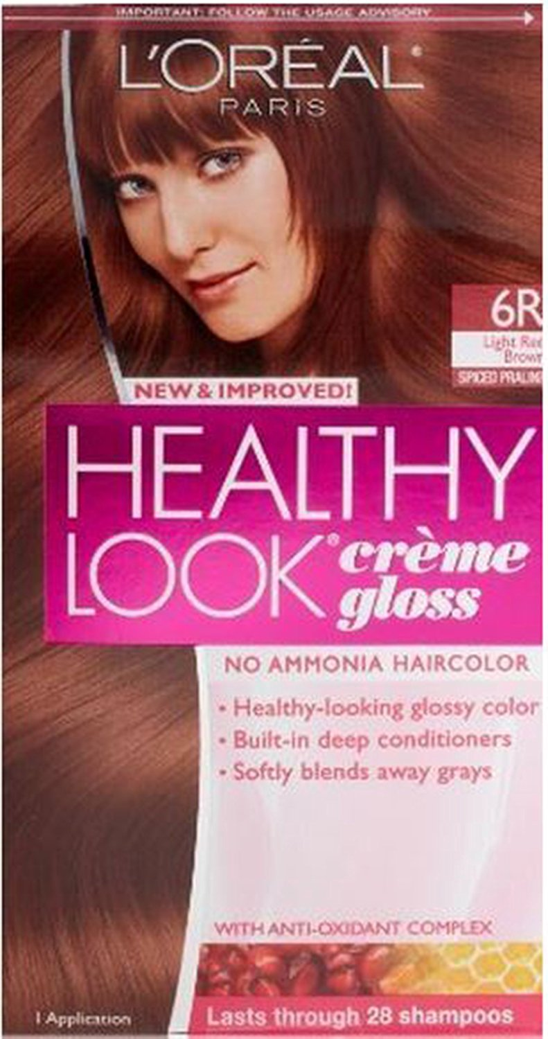 Buy Loreal Healthy Look Creme Gloss Hair Color 11r Red Brown (Pack