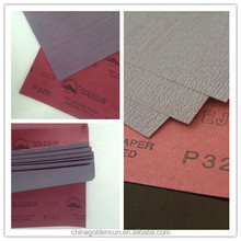 EJ85 red paper Dry abrasive coated sandpaper for wood polishing
