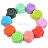 Amazon hot selling small rose flower silicone cupcake liners for cake decoration