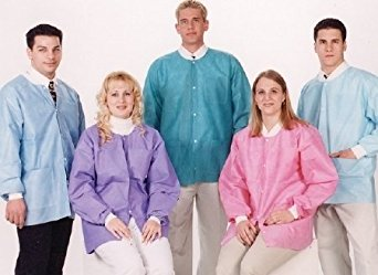 Valumax Extra-Safe Knee Length Lab Coats 10//Pkg ~CORAL PINK~ Disposable Extra Large