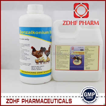 500ml 1L Poultry Farm Antiseptic Solution 2 Glutaraldehyde Disinfectants