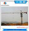 tower crane spare parts, double slewing motor 6t max load 1.3t jib tip load electric self erecting tower crane