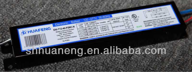 UL Listed T8 40W 2 Lamp Electronic Ballast